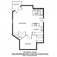 One Bedroom Type B